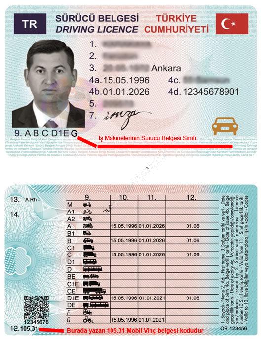 mobil vinç ehliyeti, mobil vinç g sınıfı ehliyet, vinç ehliyeti, mobil vinç ehliyet kodu